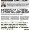 Valaki összeszedte az utóbbi hónap Magyar Hírlap címlapjait és zseniális lett az eredmény