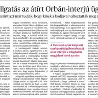 Az Orbán-interjú és az igazság