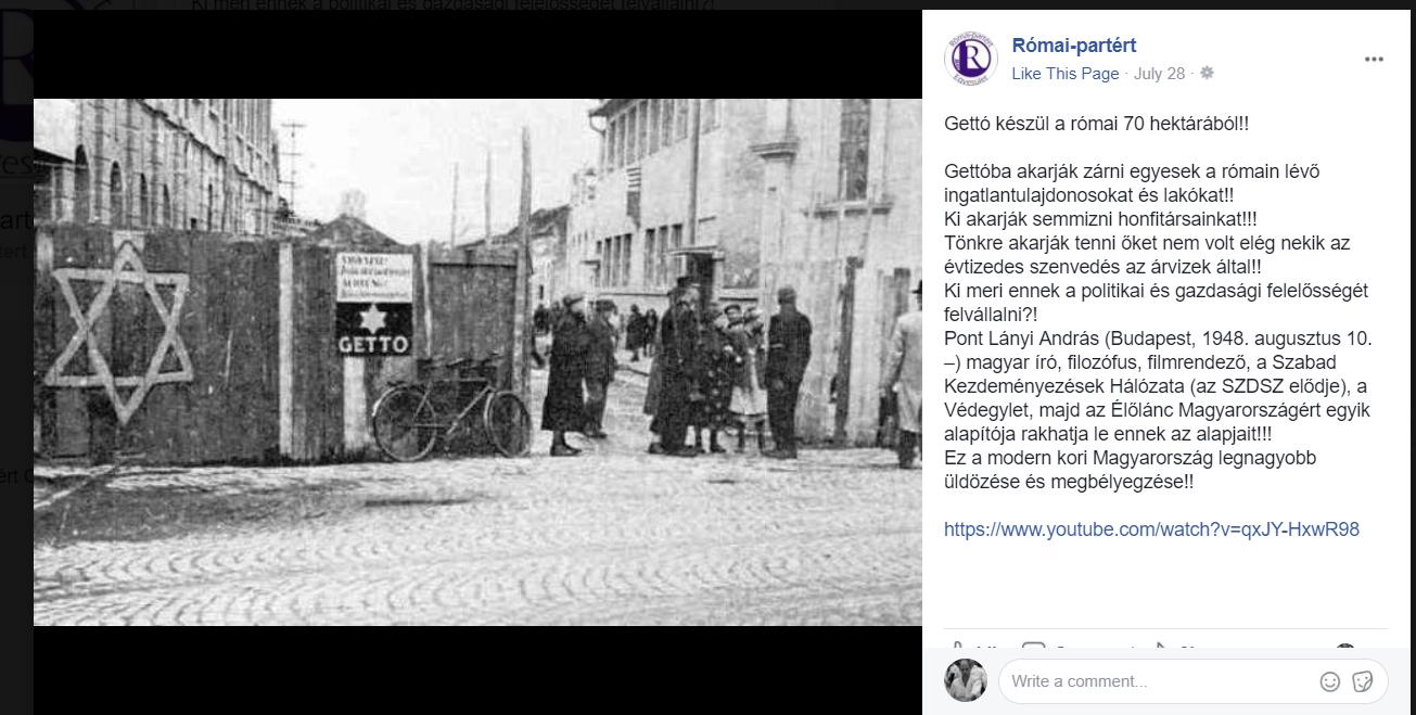 zsidozas_a_romai_partet_egyesulet_facebook_oldalan.png