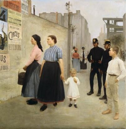 Ferenczy Károly - Plakátumok előtt 1891