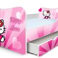 Kitty Love PLUSZ gyerekágy ágyneműtárolóval