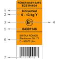 Mit jelentenek a gyerekülés biztonsági címkéjén található feliratok?