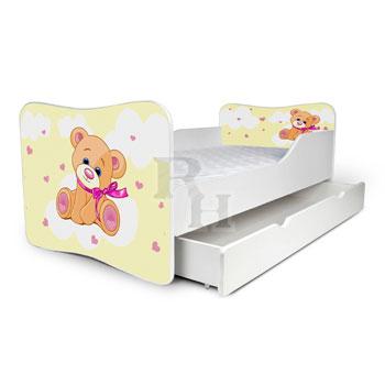 maci sárga 2 Noby  lányos gyerekágy,kiságy.jpg
