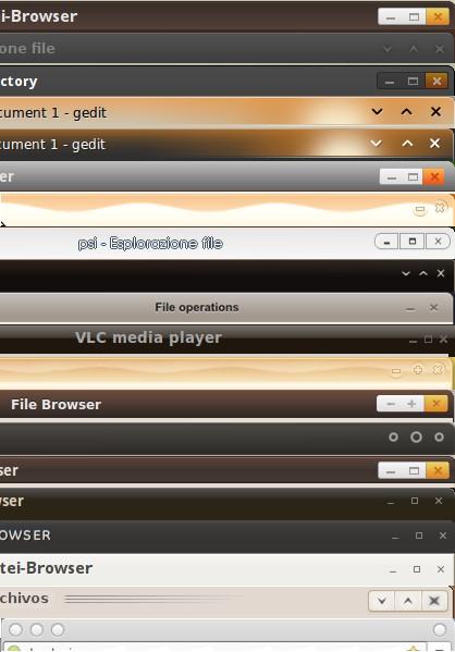 Ubuntu Lucid window border designs