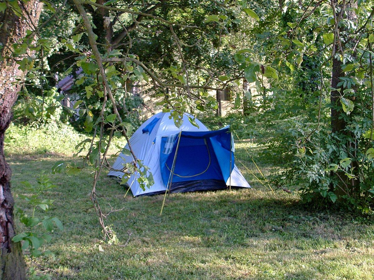 Ritka véletlen. Itt éppen Kisgyónban sátoroztunk a Gyöngyvirág turistaház füves kertjében.