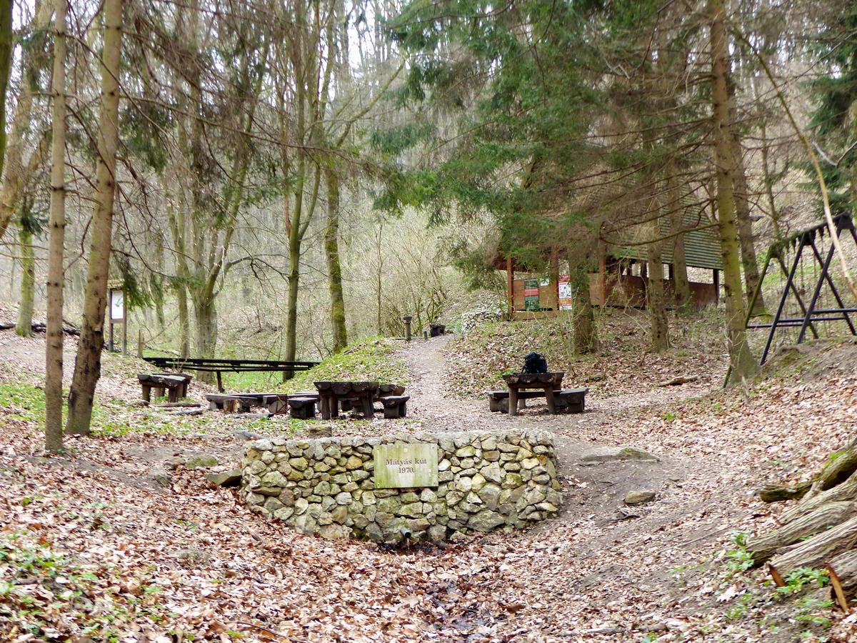 A Mátyás-kút és az erdei pihenőhely