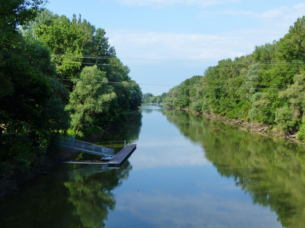 Ez pedig a Tisza keskenyebbik ága, hiszen a híd áthalad a Tiszaszigeten is.
