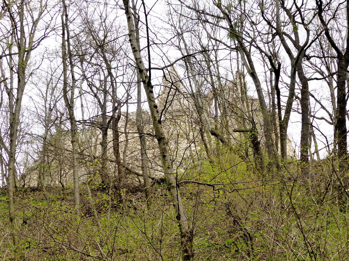 Most még alulról tekintünk fel Vitányvár falaira