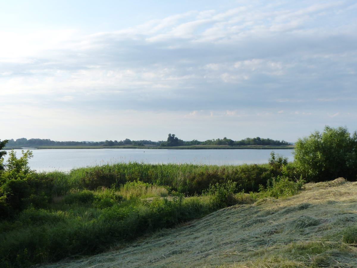 Ritka kilátás a gát tetején futó aszfaltútról a Tisza-tóra