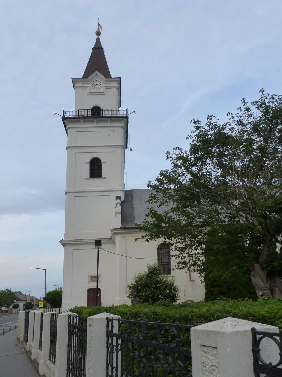 A református templom a tornyán körbefutó kilátóval