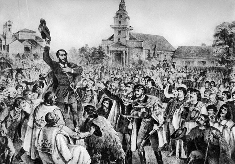 A katolikus templom előtt mondta el Kossuth Lajos a híres ceglédi beszédét