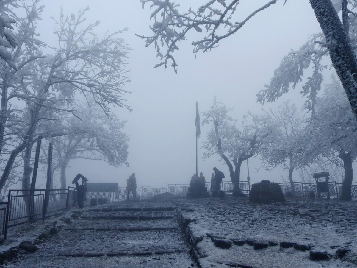 A köd miatt semmi kilátás nem volt Dobogókőről