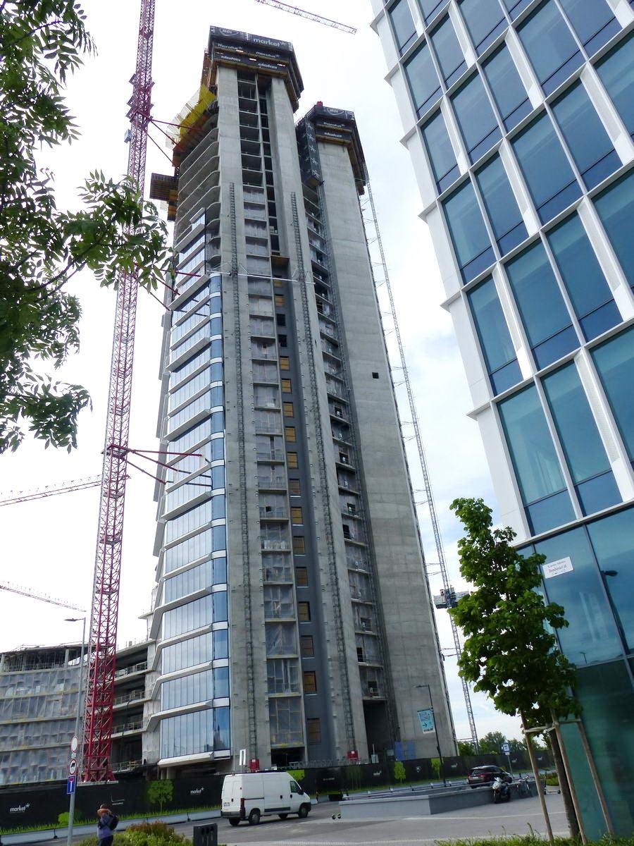 Készül a MOL Csoport 28 emeletes irodaháza a Dombóvári út mellett, a Dunapark területén. Már most hazánk legmagasabb épülete.