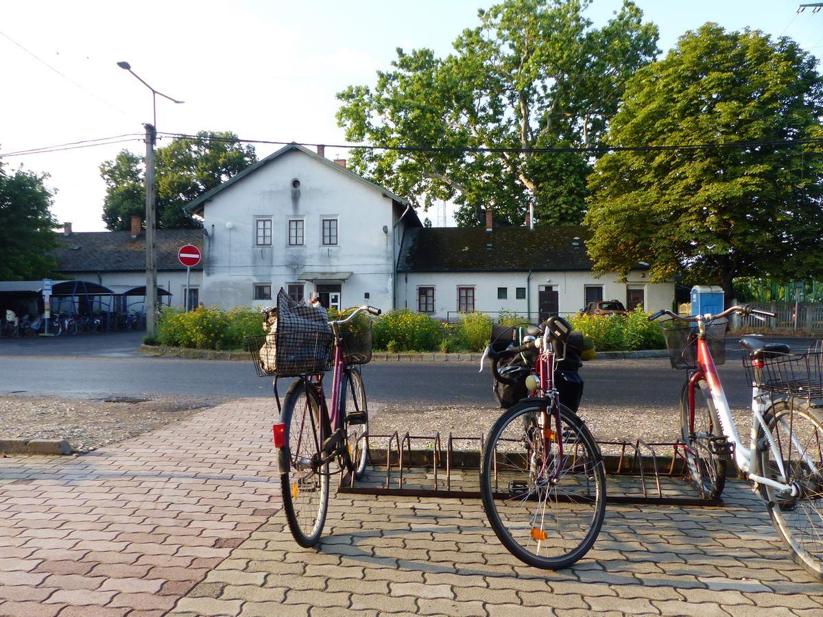 Abony, vasútállomás, a háromnapos kerékpáros túra kezdőpontja