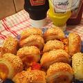 Mini virslis falatkák cheddar sajttal