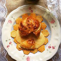 Leveles tésztában sült camambert/Baked camambert in puff pastry