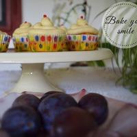 Szilvás muffin fahéjas mascarpone krémmel