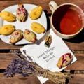 Meggyes-mákos és gyömbéres-lime-os madeleine kabócák