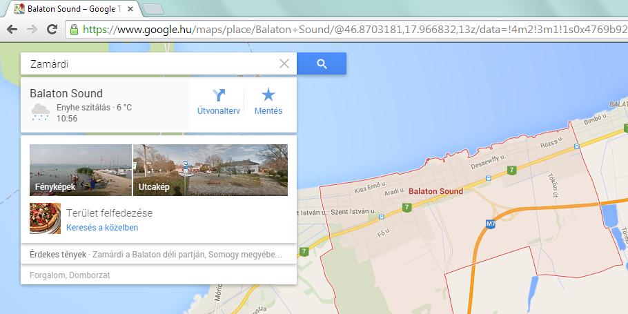 google térkép balaton Zamárdi megszűnt – Balaton Sound a település új neve a Google  google térkép balaton
