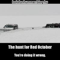 Hummer vadászat a Vörös Októberre