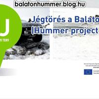 Jégtörés a Balatonon (Hummer project)