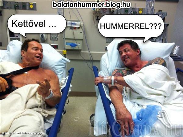 Arnold és Sly: Kettővel... Hummerrel? - Balaton