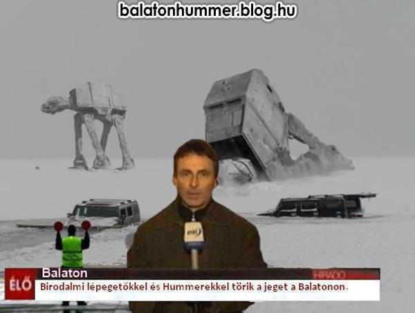 Birodalmi lépegetőkkel és Humerekkel törik a jeget a Balatonon