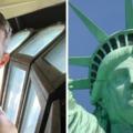 Bemásztam a Szabadság szobor fejébe