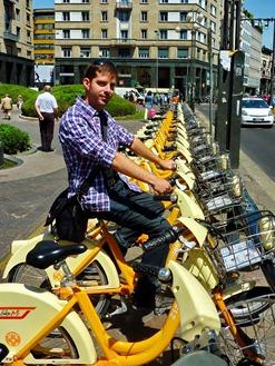 Milánó bicajbérlés