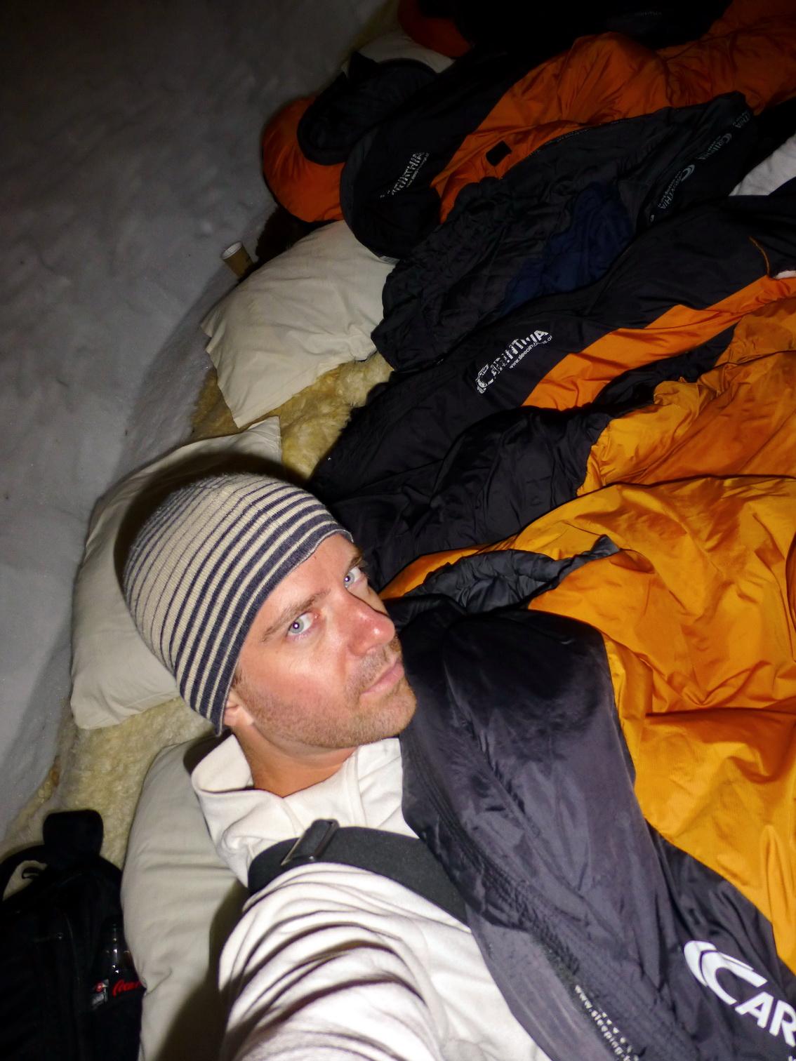reggeli szelfi - itt már felöltözve visszabújtam az ágyba még egy pár percre