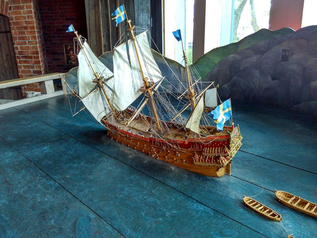 Vasa hajó makett