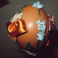 Hímzett hímes tojás készítése