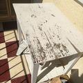 Régiből újat az erkélyre - Dávid asztalkája, avagy a csiszolás és festés alapjai