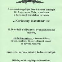 Karácsonyi Kavalkád, 2017.