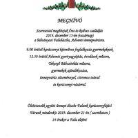 Karácsony, Adventi ünnepvárás, falu-karácsonyfa díszítés - Meghívó