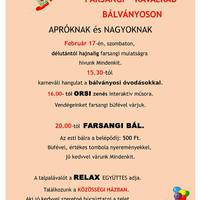 Farsangi Kavalkád Bálványoson, 2018. - MEGHÍVÓ