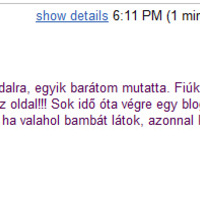 Első rajogói levél - köszi Oli!