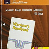 {{UPD{{ Holt Traditions Warriner's Handbook: Developmental Language And Sentence Skills Guided Practice Fifth Course Grade 11. carcel social vocera workshop Weekly internet Current LICENCIA