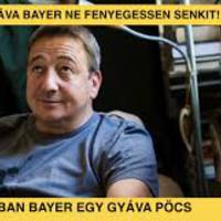Üzenet a Bayer Zsolt nevű véglénynek: Az a proli vagyok aki pofán fog verni.