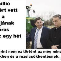 Üzenet Orbánnak: Megvettem a földeket. Mit vegyek még? Mészáros Lőrinc.
