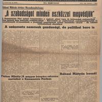Bányászatunk a háború után: 1945-1946