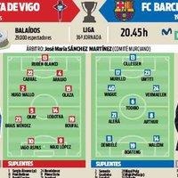 Várható kezdőcsapatok #CeltaBarca