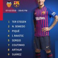 Hivatalos kezdőcsapat #ValenciaBarca