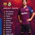 Hivatalos kezdőcsapat #CopaBarca