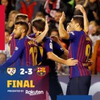 Szerencsés győzelem #RayoBarca