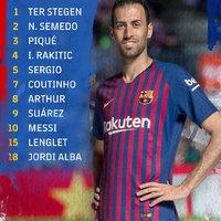 Hivatalos kezdőcsapat #BarcaEspanyol