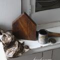 Kézzel festett házikók maradék fából