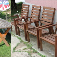 Így fess fából készült kerti bútort!