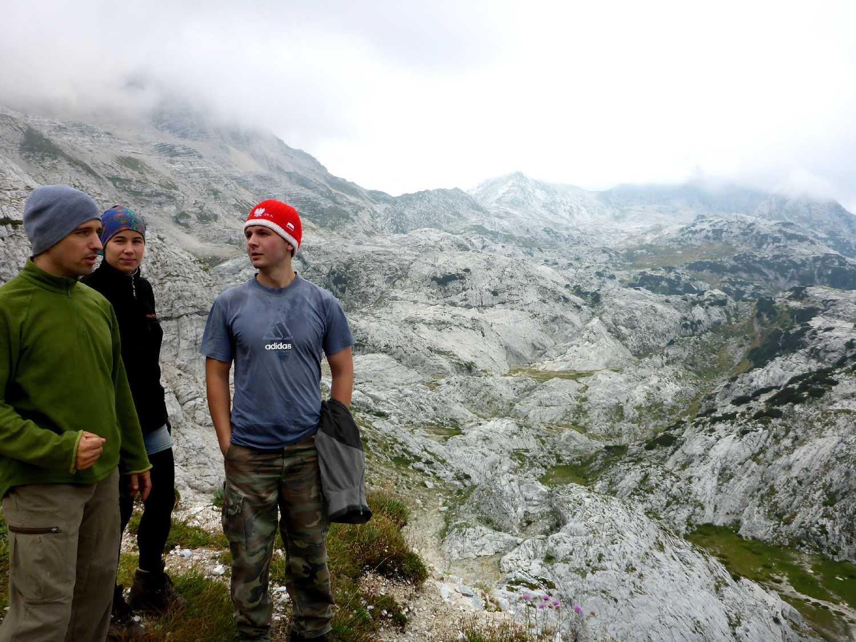 Lacc, Bori és Erik a hágóban (Modor képe)