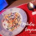 Mikulás csizmás tányéralátét